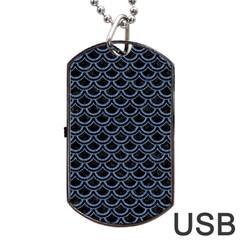 SCA2 BK-MRBL BL-DENM Dog Tag USB Flash (One Side)