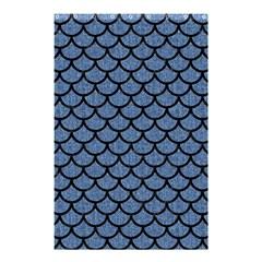 SCA1 BK-MRBL BL-DENM (R) Shower Curtain 48  x 72  (Small)