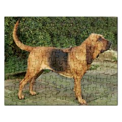 Bloodhound Black And Tan Full Rectangular Jigsaw Puzzl