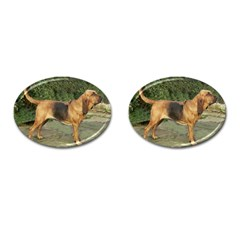 Bloodhound Black And Tan Full Cufflinks (Oval)