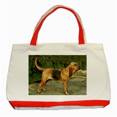 Bloodhound Black And Tan Full Classic Tote Bag (Red)