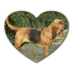 Bloodhound Black And Tan Full Heart Mousepads