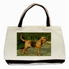 Bloodhound Black And Tan Full Basic Tote Bag (Two Sides)