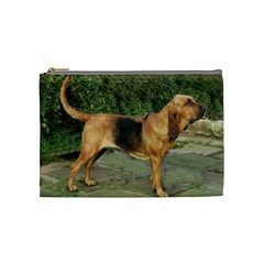 Bloodhound Black And Tan Full Cosmetic Bag (Medium)