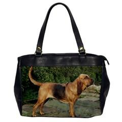 Bloodhound Black And Tan Full Office Handbags