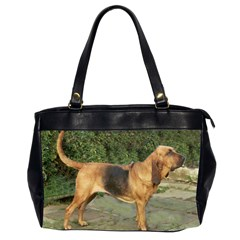 Bloodhound Black And Tan Full Office Handbags (2 Sides)