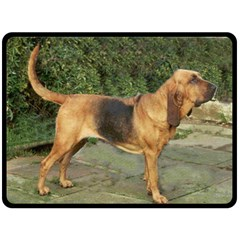 Bloodhound Black And Tan Full Fleece Blanket (Large)