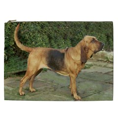 Bloodhound Black And Tan Full Cosmetic Bag (XXL)
