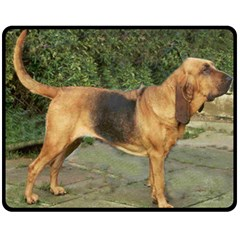 Bloodhound Black And Tan Full Double Sided Fleece Blanket (Medium)