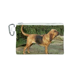 Bloodhound Black And Tan Full Canvas Cosmetic Bag (S)