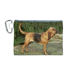Bloodhound Black And Tan Full Canvas Cosmetic Bag (M)