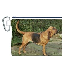 Bloodhound Black And Tan Full Canvas Cosmetic Bag (L)