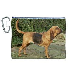 Bloodhound Black And Tan Full Canvas Cosmetic Bag (XL)
