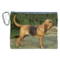 Bloodhound Black And Tan Full Canvas Cosmetic Bag (XXL)