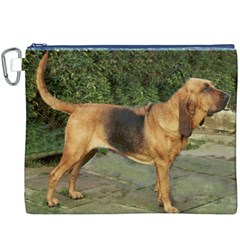 Bloodhound Black And Tan Full Canvas Cosmetic Bag (XXXL)