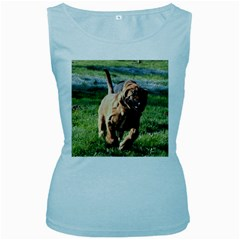 Bloodhound Running Women s Baby Blue Tank Top
