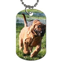 Bloodhound Running Dog Tag (Two Sides)