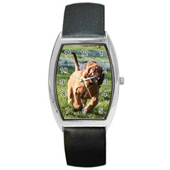 Bloodhound Running Barrel Style Metal Watch