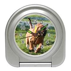 Bloodhound Running Travel Alarm Clocks