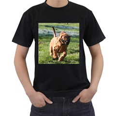 Bloodhound Running Men s T-Shirt (Black) (Two Sided)