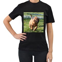 Bloodhound Running Women s T-Shirt (Black) (Two Sided)