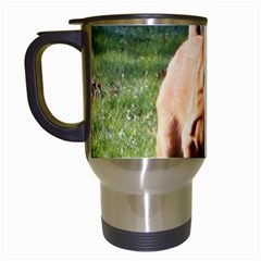Bloodhound Running Travel Mugs (White)