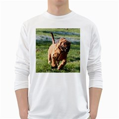 Bloodhound Running White Long Sleeve T-Shirts