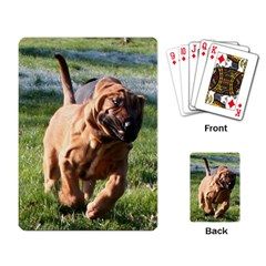 Bloodhound Running Playing Card