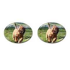 Bloodhound Running Cufflinks (Oval)