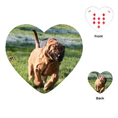 Bloodhound Running Playing Cards (Heart)
