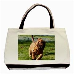 Bloodhound Running Basic Tote Bag