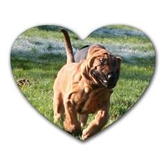 Bloodhound Running Heart Mousepads