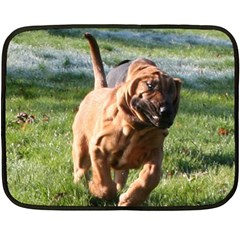 Bloodhound Running Double Sided Fleece Blanket (Mini)