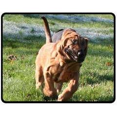 Bloodhound Running Fleece Blanket (Medium)