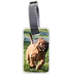 Bloodhound Running Luggage Tags (One Side)