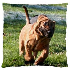 Bloodhound Running Large Cushion Case (Two Sides)