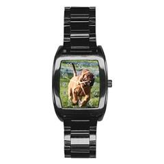 Bloodhound Running Stainless Steel Barrel Watch
