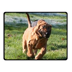Bloodhound Running Double Sided Fleece Blanket (Small)