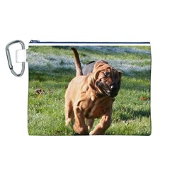 Bloodhound Running Canvas Cosmetic Bag (L)