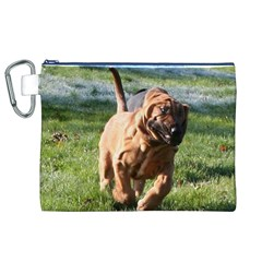 Bloodhound Running Canvas Cosmetic Bag (XL)
