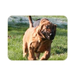 Bloodhound Running Double Sided Flano Blanket (Mini)