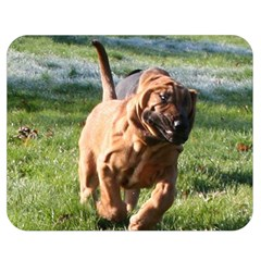 Bloodhound Running Double Sided Flano Blanket (Medium)