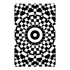 Checkered Black White Tile Mosaic Pattern Shower Curtain 48  x 72  (Small)