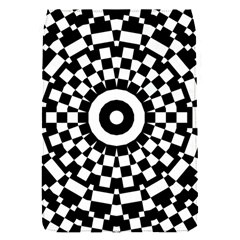 Checkered Black White Tile Mosaic Pattern Flap Covers (S)