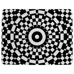 Checkered Black White Tile Mosaic Pattern Jigsaw Puzzle Photo Stand (Rectangular)