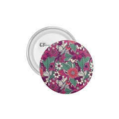 Seamless Floral Pattern Background 1.75  Buttons