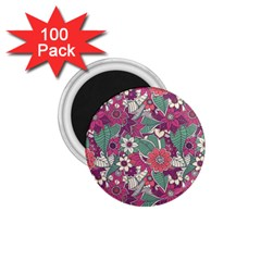 Seamless Floral Pattern Background 1.75  Magnets (100 pack)