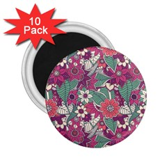 Seamless Floral Pattern Background 2.25  Magnets (10 pack)