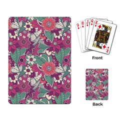 Seamless Floral Pattern Background Playing Card