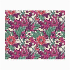 Seamless Floral Pattern Background Small Glasses Cloth (2-Side)